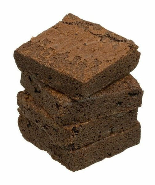 what not to feed a dog - a pile of CBD brownies