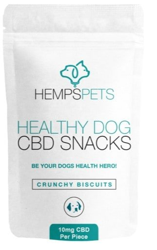 CBD treats for dogs with anxiety - CBD essence Crunchy CBD snacks front image