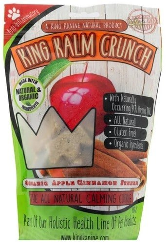 CBD treats for dogs with anxiety - Apple cinnamon flavor King Kanine Crunch
