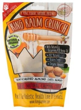 CBD treats for dogs with anxiety - King Kanine Krunch Roasted Almonds and Honey Flavor