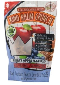 CBD treats for dogs with anxiety - Blueberry Apple Flax flavor King Kanine Krunch