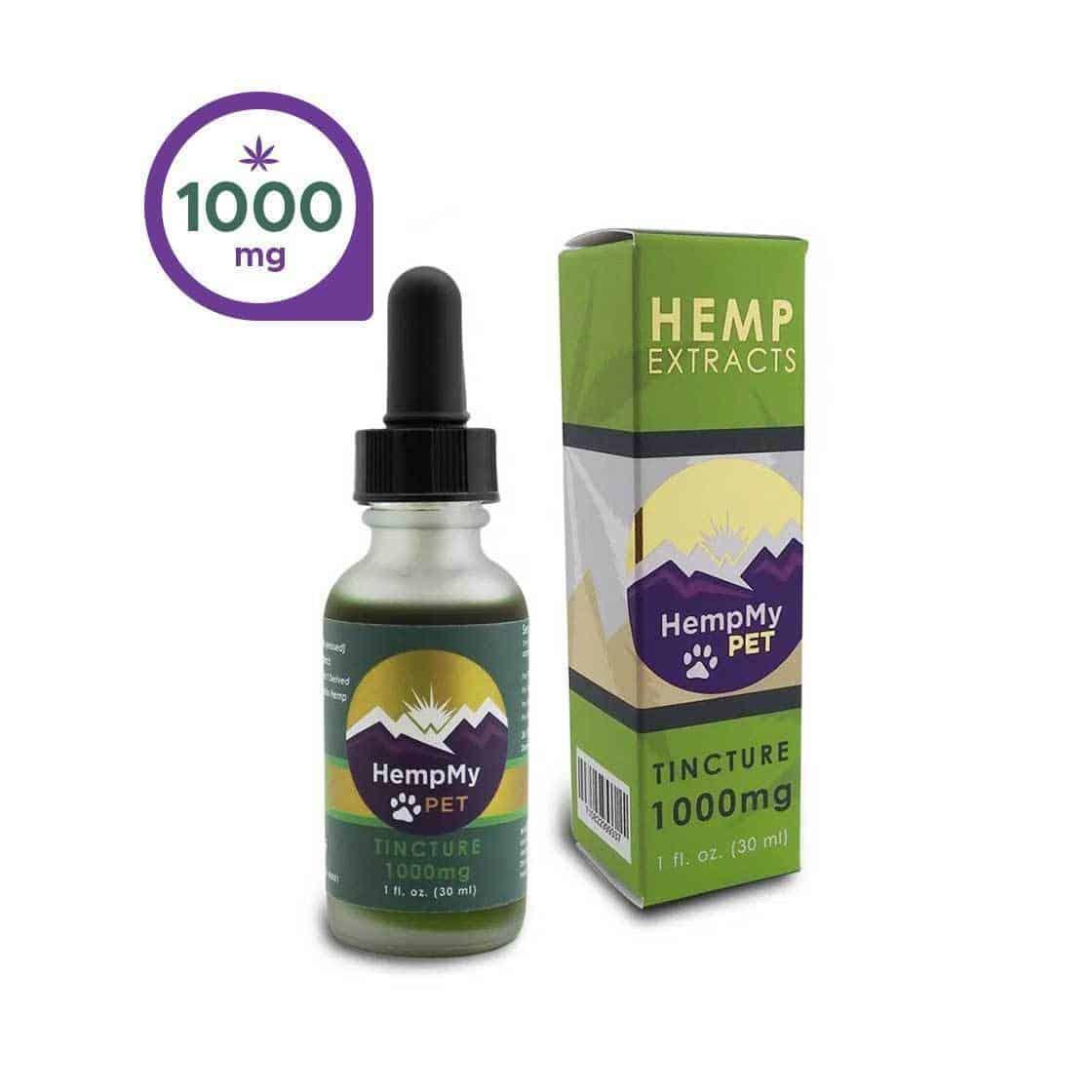 cbd for dogs with Osteoarthritis - 1,000 mg hemp bottle
