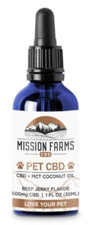 An image of Mission Farms CBD with MCT oil