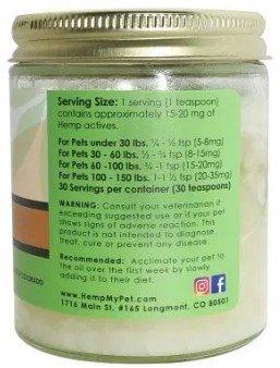 An image of a jar of HempMyPet Hemp infused coconut oil