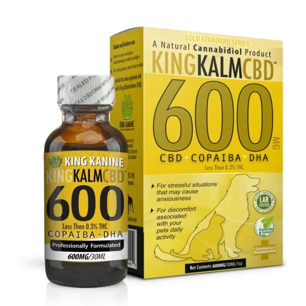 CBD 600mg showing a bottle and a yellow box